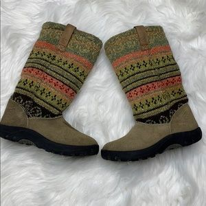 Keen Knee High Multicolor Suede Boots
